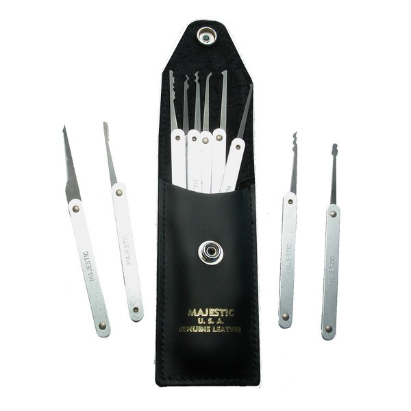 Majestic 13 Piece Spring Steel Lock Pick Set | Pick My Lock