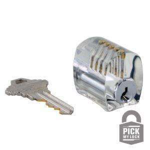 Pick My Lock Acrylic Practice Lock – Spool Pins
